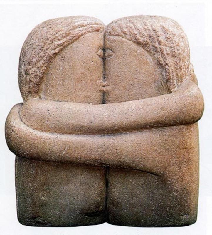 Constantine Brancusi. Kiss