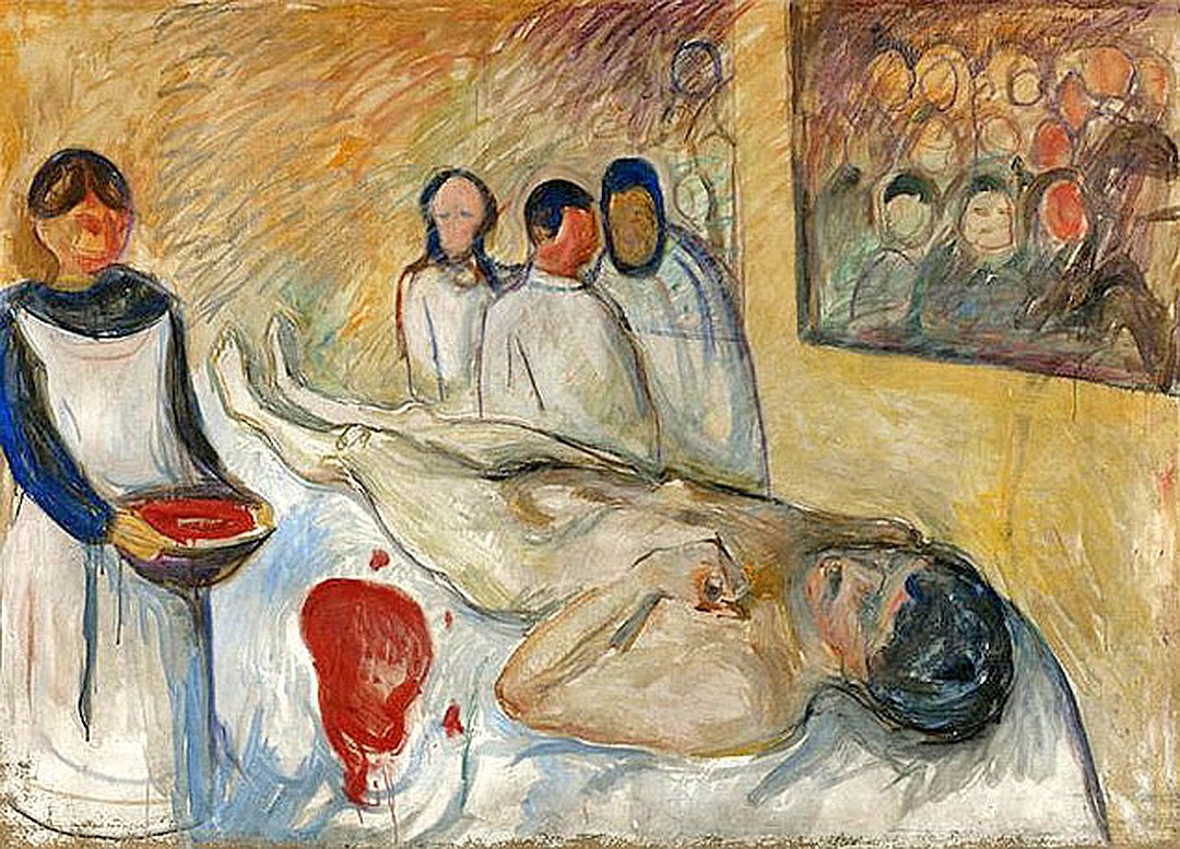 Edvard Munch. On the operating table