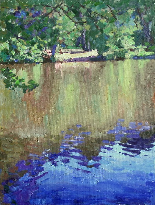 Mikhail Rudnik. Lake in the forest