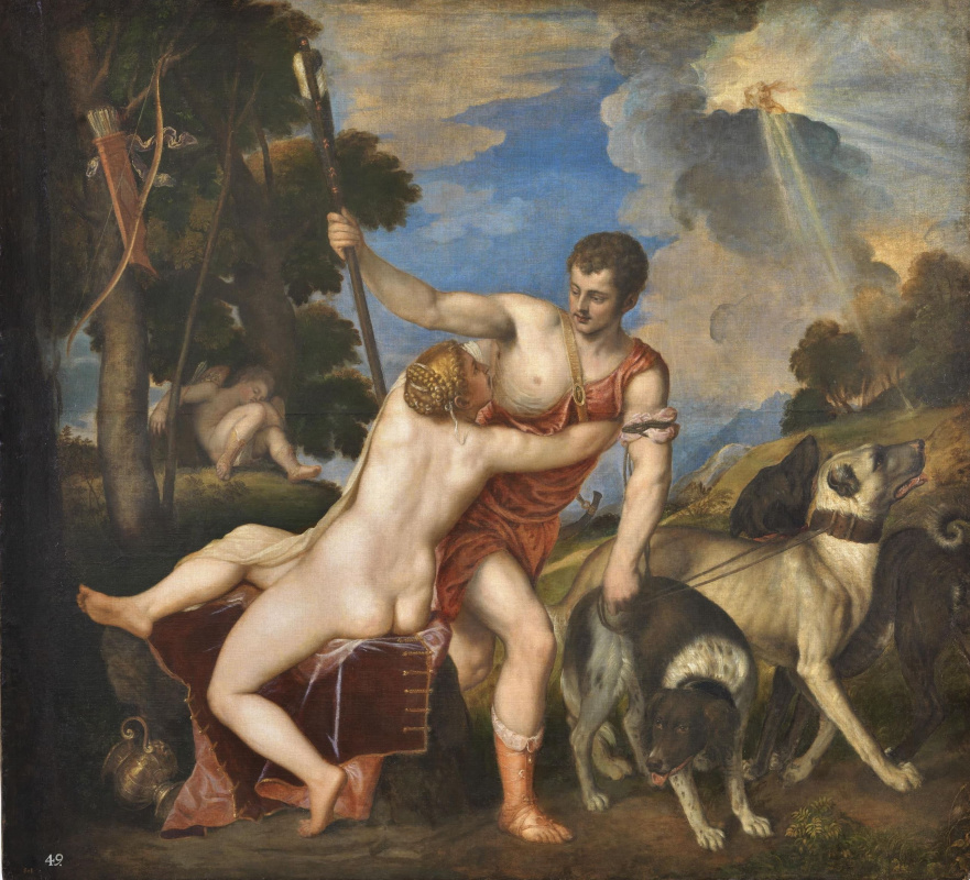 Titian Vecelli. Venus and Adonis