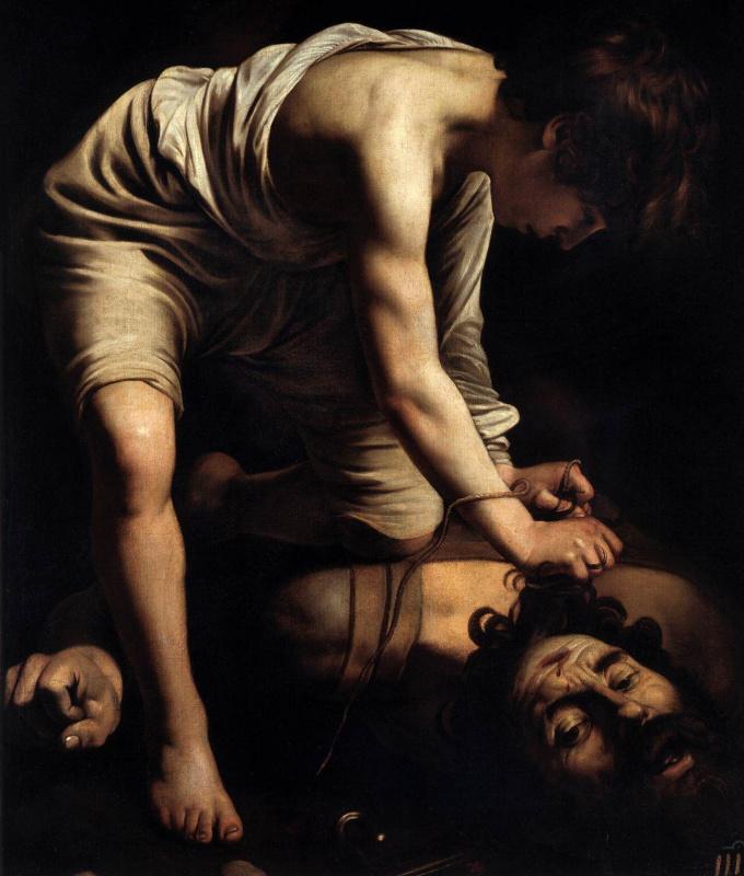 Микеланджело Меризи де Караваджо. Давид и Голиаф
