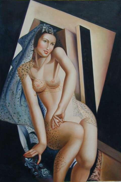 Тамара Лемпицка. Сидящая обнаженная