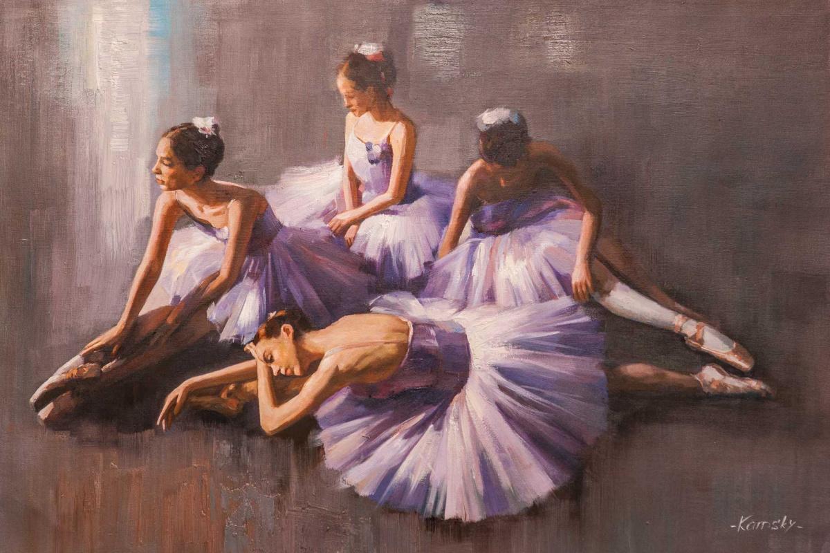 Savely Kamsky. Изящные балерины