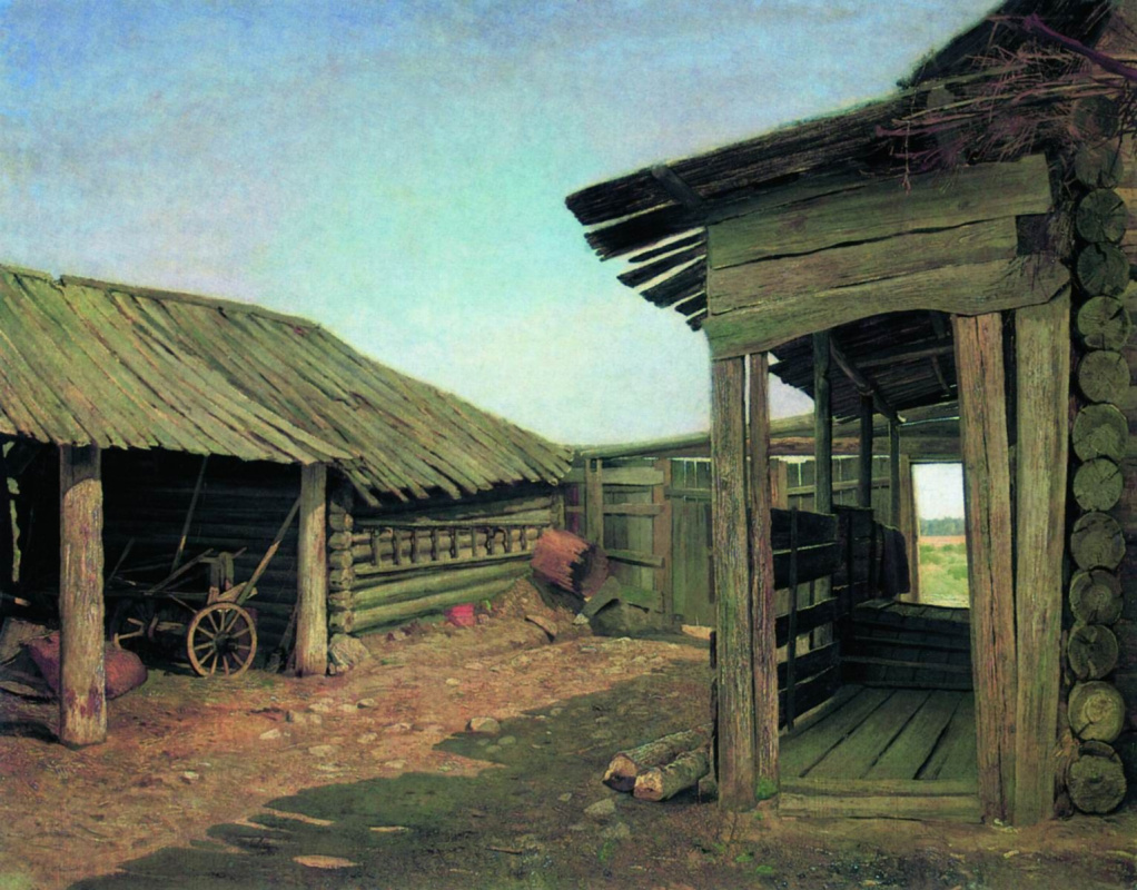 Ivan Shishkin. Village courtyard