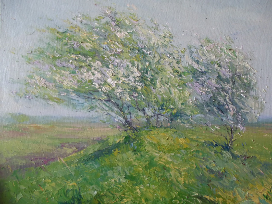 "Konstantin Leonidovich Antipov. ,, Apple trees in the wind """