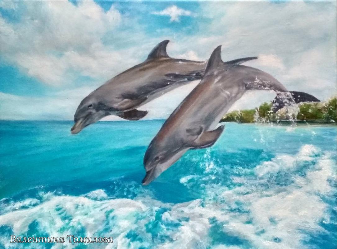 Valentina Tomilova. Dolphin escort
