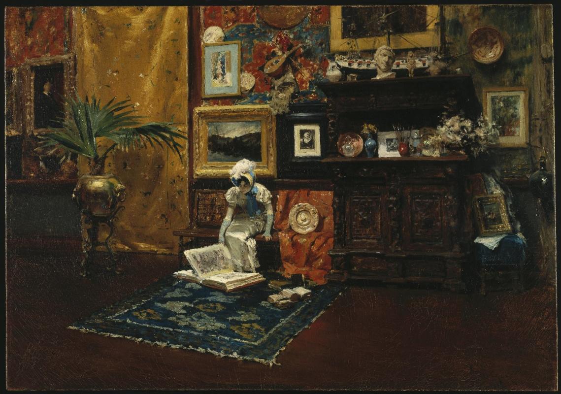 William Merritt Chase. The interior of the Studio