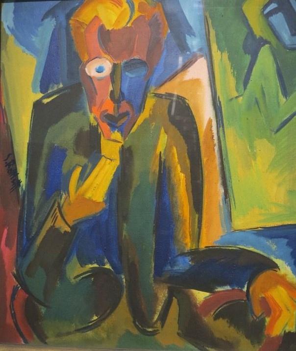Карл Шмидт-Ротлуф. Портрет историка искусств Вильгельма Наймера