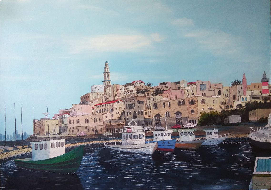 Vladimir Adamovich Ropot. Morning. Jaffa port.