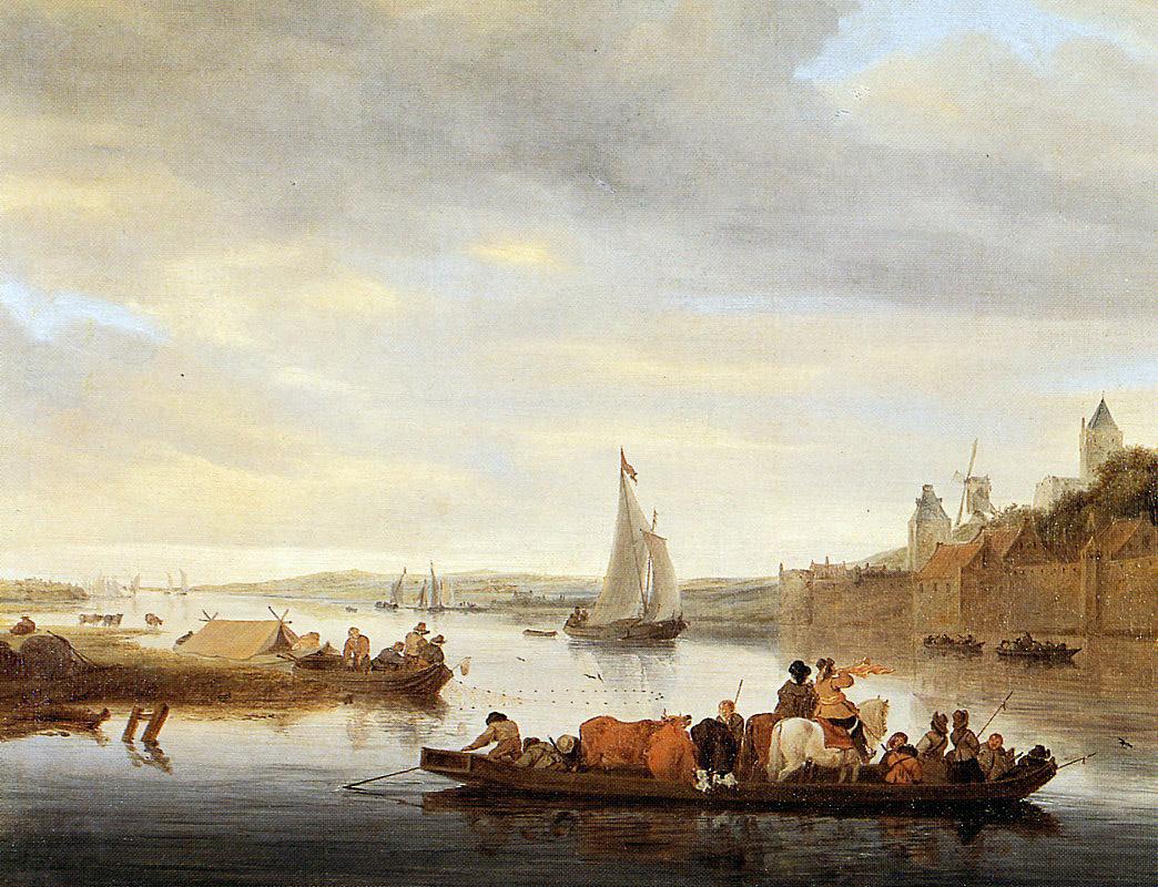 Саломон ван Рёйсдал. Переправа