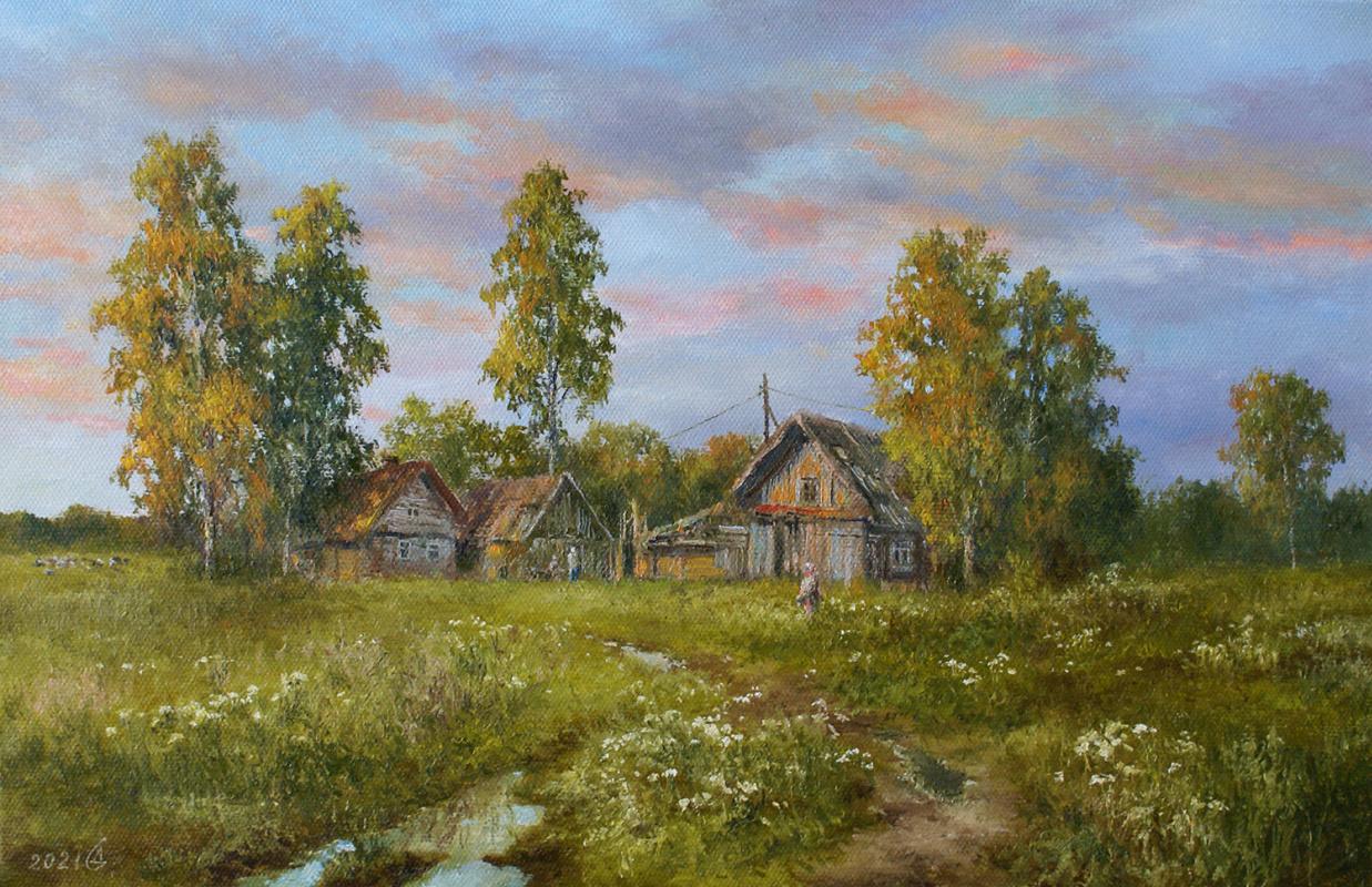Сергей Владимирович Дорофеев. Summer evening in the village