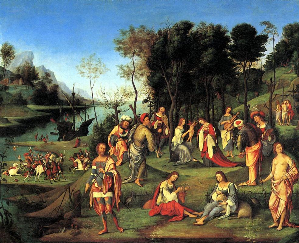 Лоренцо Коста. Аллегория двора Изабеллы д'Эсте
