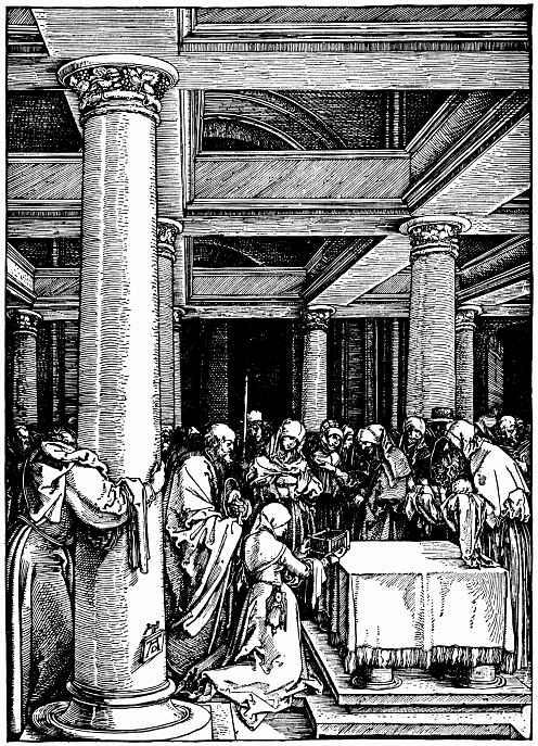 Альбрехт Дюрер. Принесение младенца Христа во храм