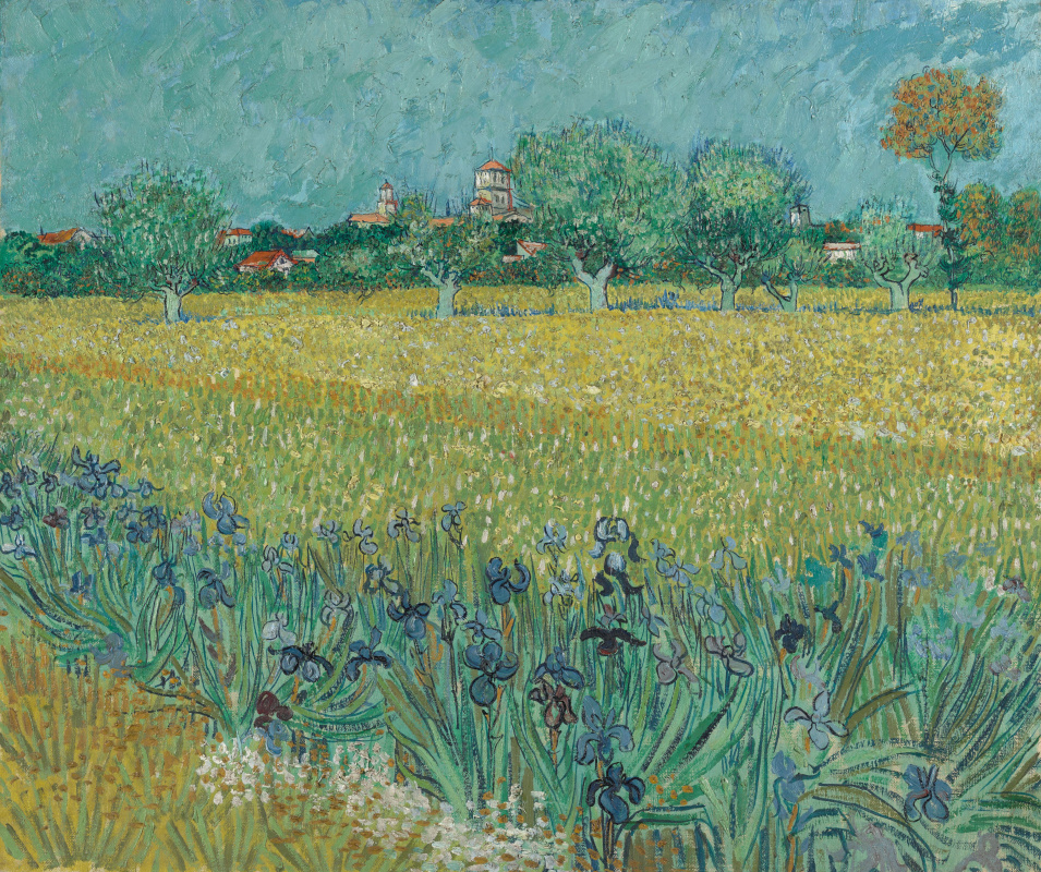 Vincent van Gogh. View of Arles with irises