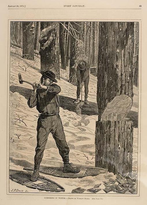 Winslow Homer. Logging in winter