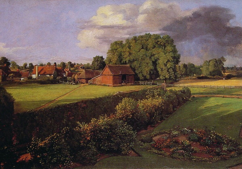 John Constable. Flower bed of the Constable.
