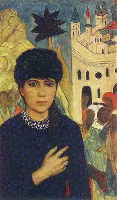 Илья Сергеевич Глазунов. Портрет жены художника.1968