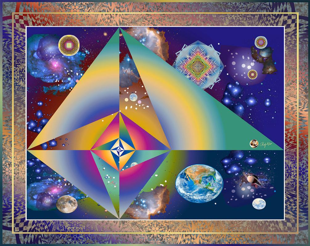 Юрий Николаевич Сафонов (Yury Safonov). Triangles 3,4,5, space pyramids in a spiral