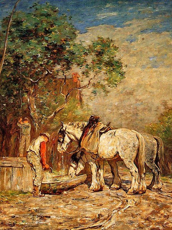 Горацио Уокер. Лошади на водопое