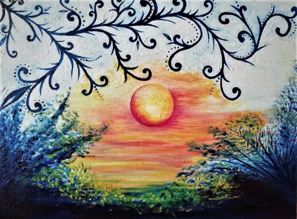 Asha Vanushevna. Sunset