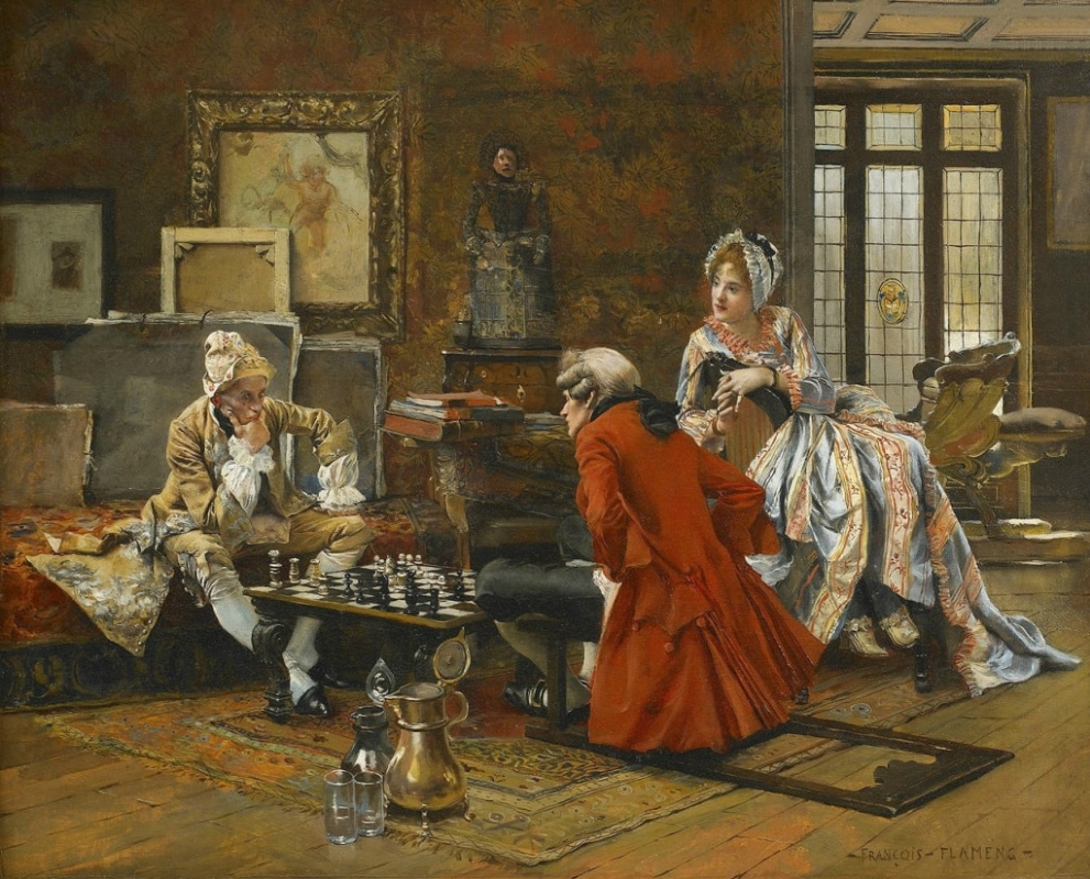 Франсуа Фламенг. Игра в шахматы