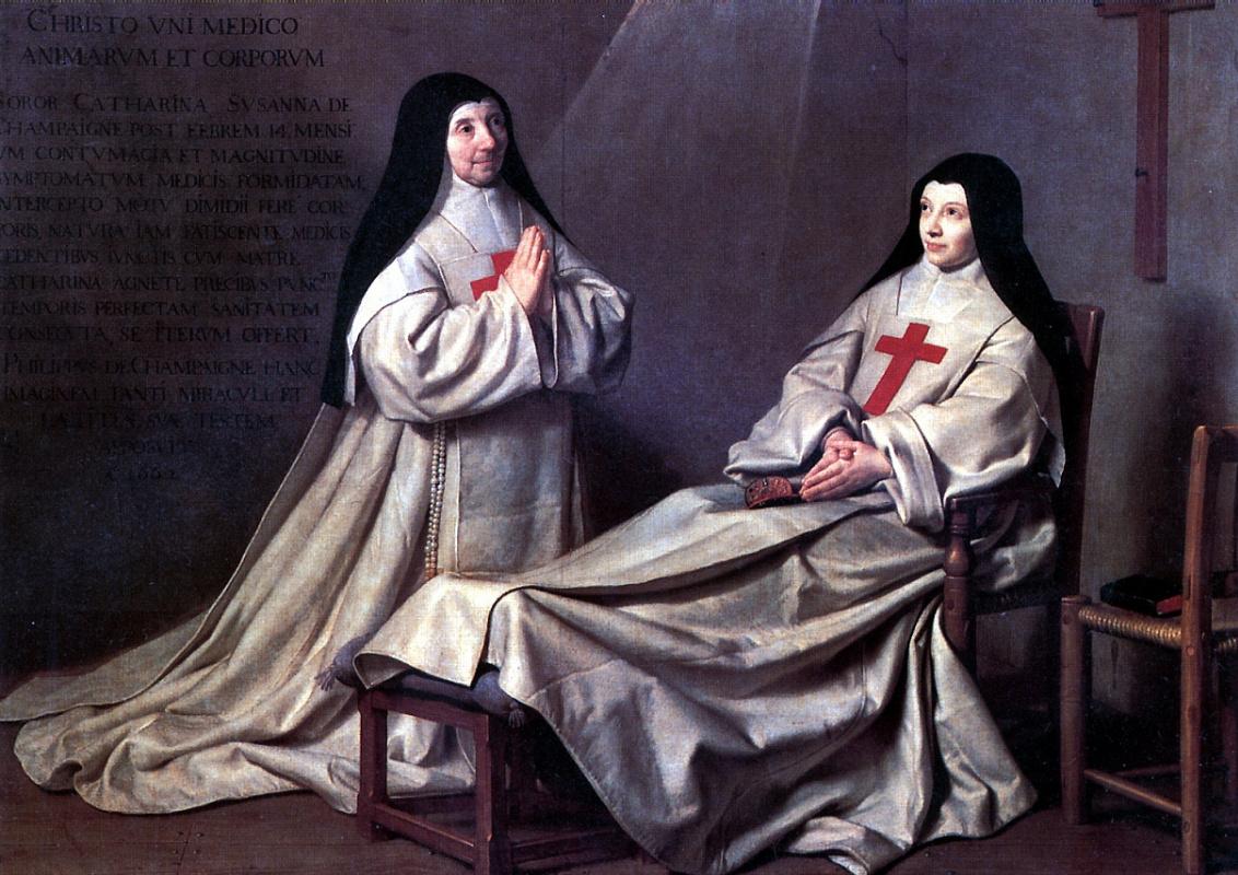 Philippe de Champigny. Mother Catherine Agnes Arnaud and sister Catherine de Sainte Suzanne