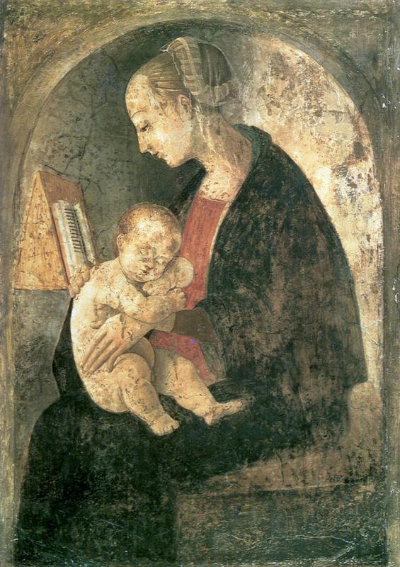 Джованни Санти. Мадонна с младенцем и с книгой