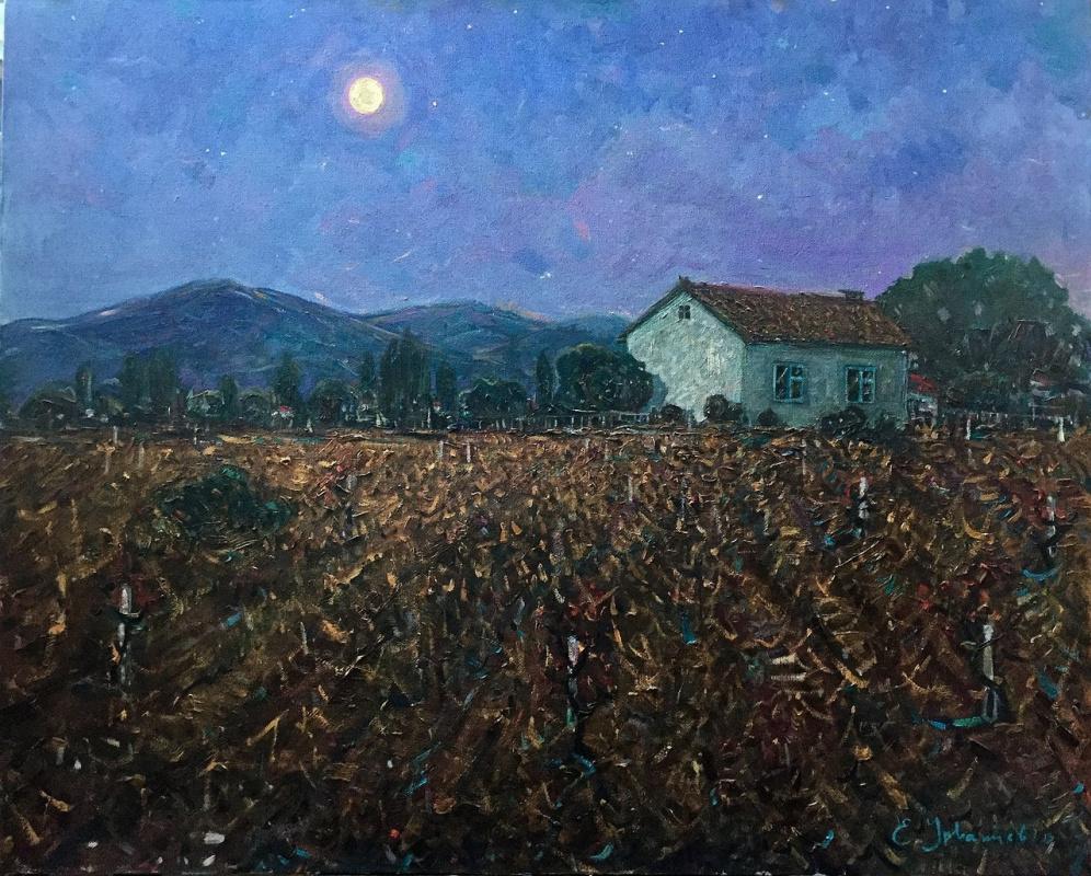 "Eugene Alexandrovich Urvantsev. ""Evening in the village"""