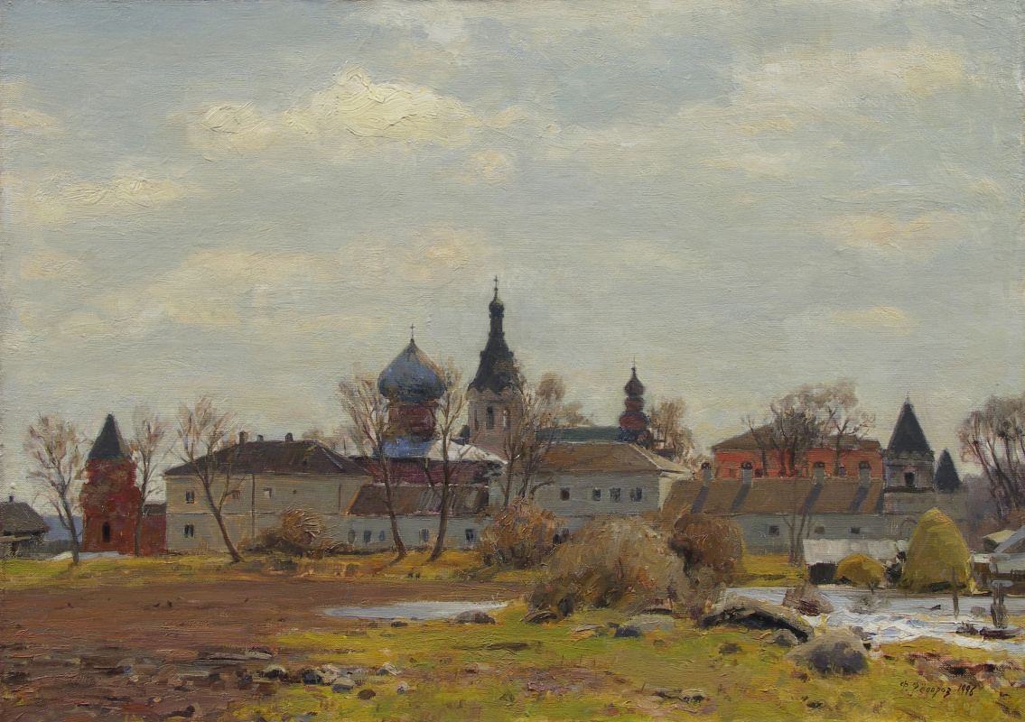 Фёдор Борисович Фёдоров. Spring. Nikolsky Monastery in Staraya Ladoga