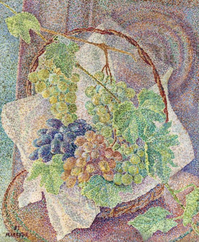 Мария Брониславовна (Воробьева-Стебельская) Маревна. Натюрморт с фруктами.1939