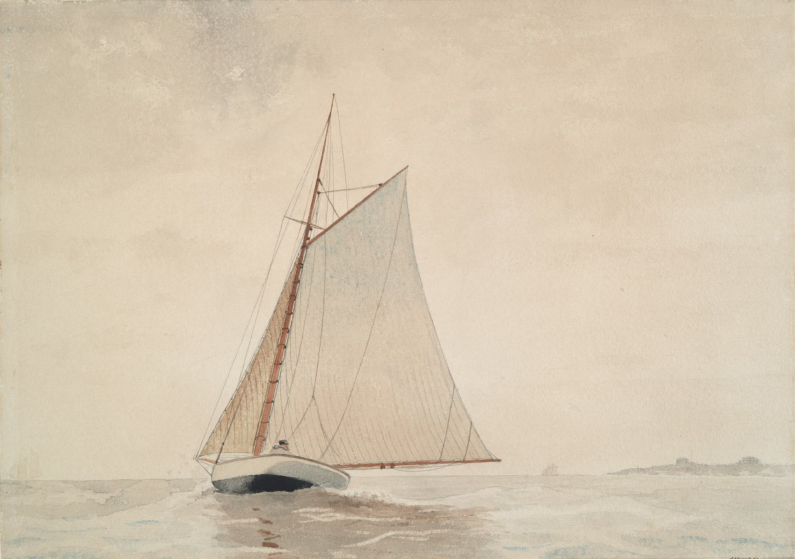Winslow Homer. Sailboat out of Gloucester