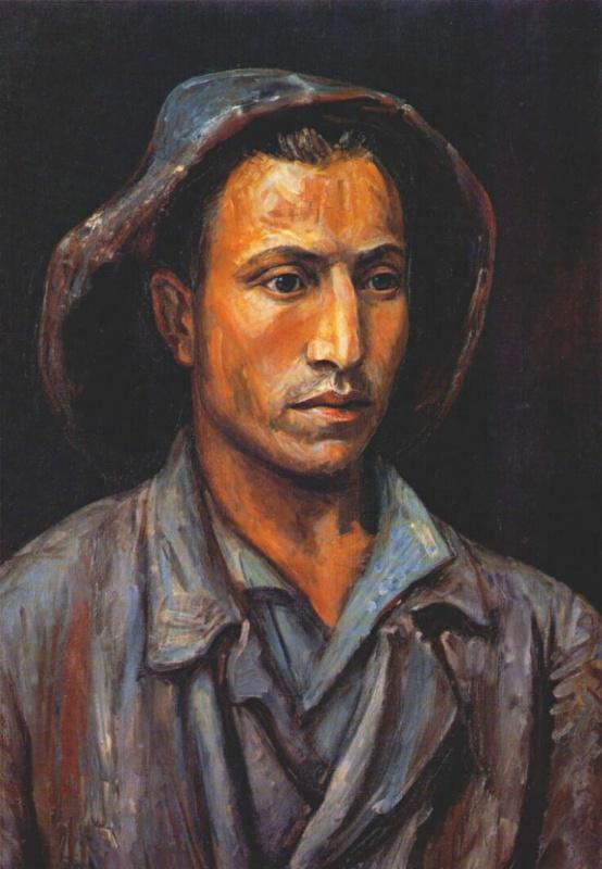 Осолодков. Портрет мужчины в шляпе