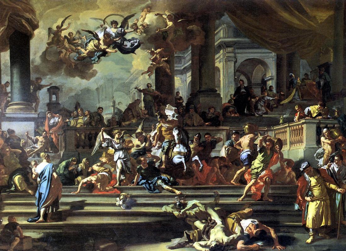 Франческо Солимена. Гелиодор, изгоняемый из храма