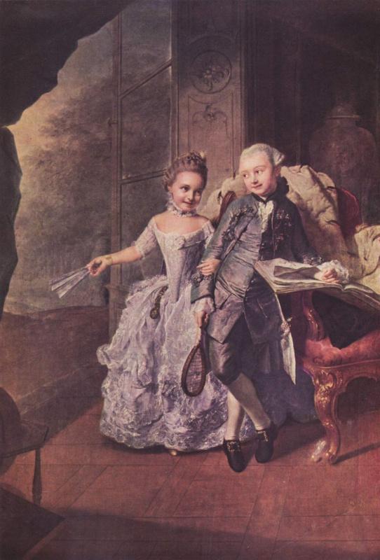 Георг Давид Мэтью. Принц и принцесса Мекленбургские