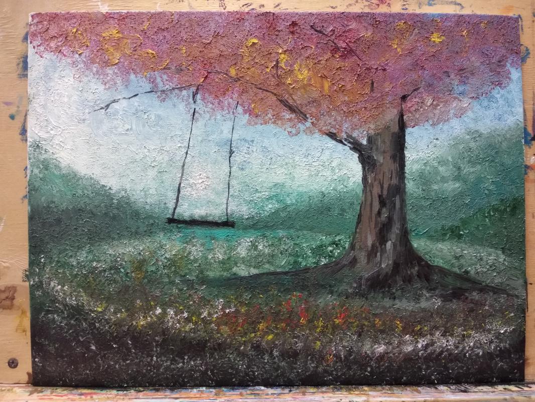 """Zifa Ishbulatovna Abdullina. """"tree and swing"""""""