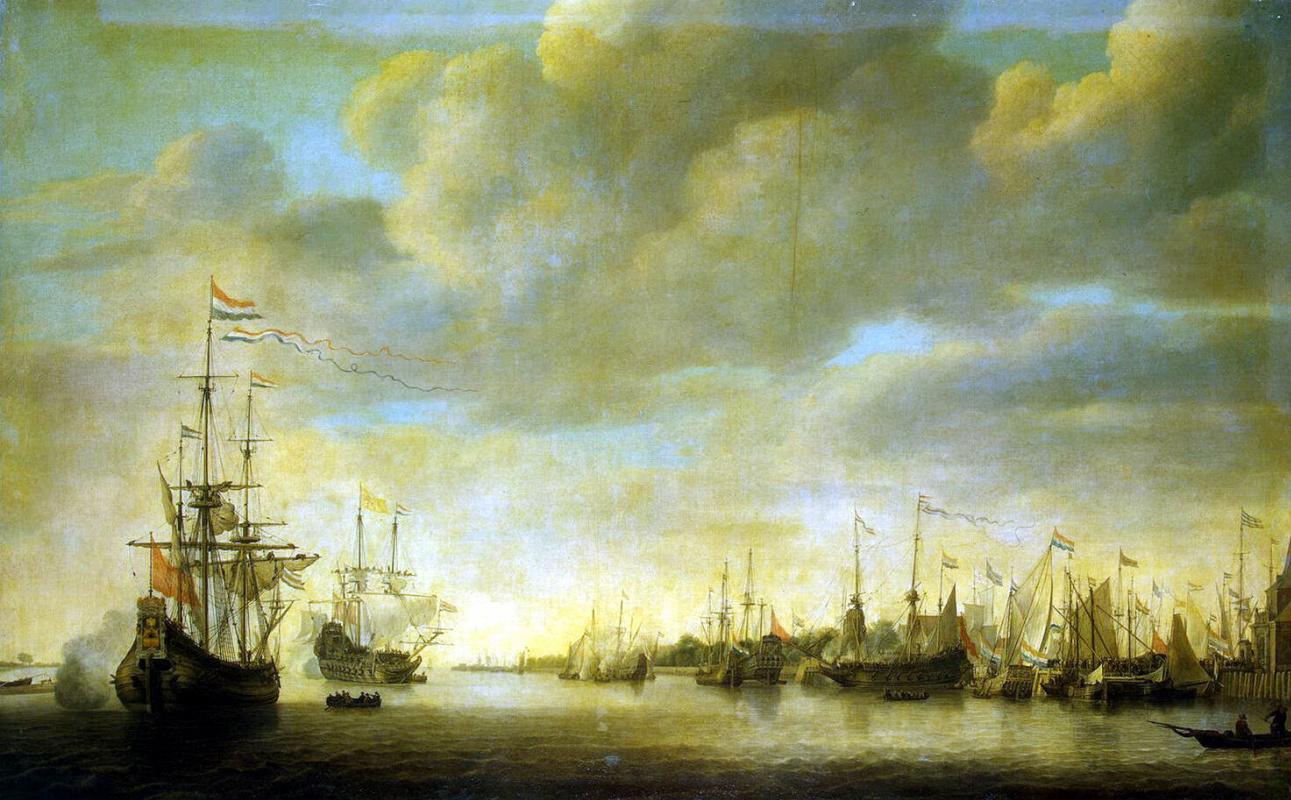 Симон де Влигер. Прибытие Вильгельма Оранского в Роттердам