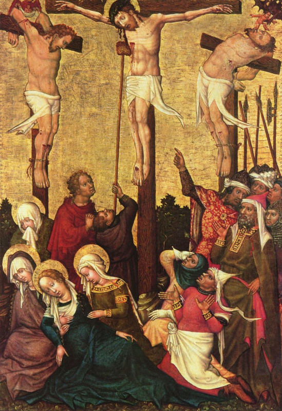 Hans von Tübingen. The crucifixion