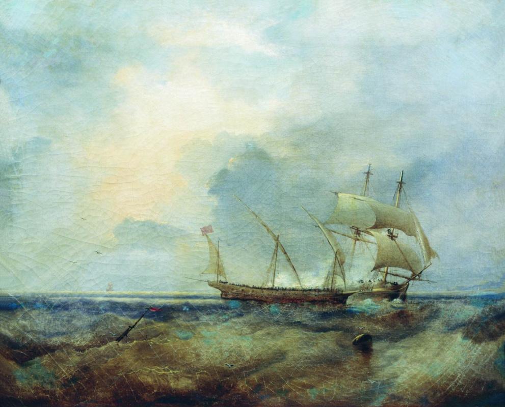 Алексей Петрович Боголюбов. Корабли на море