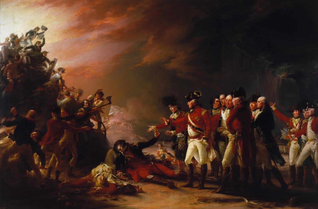 John Trumbull. Outing of the Gibralthar Garrison