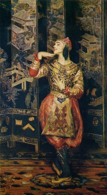 Jacques-Emile Blanche. Vaslav Nijinsky en danseur oriental (Vaslav Nijinsky as Oriental Dancer)