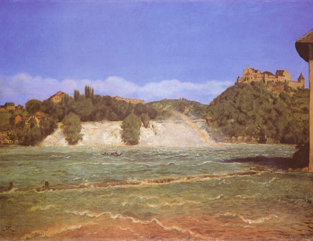 Hans Toma. Waterfall on the Rhine near Schaffhausen