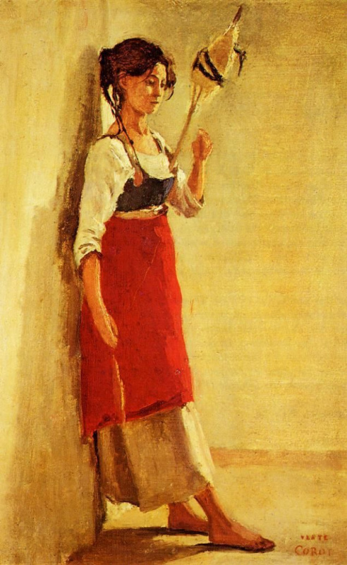 The young Italian from Papigno with a spindle