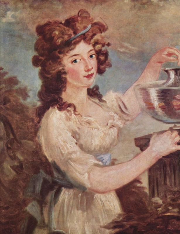 Карл Фридрих фон Бреда. Портрет юной дамы с золотыми рыбками