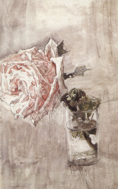Mikhail Vrubel. Rose in a glass