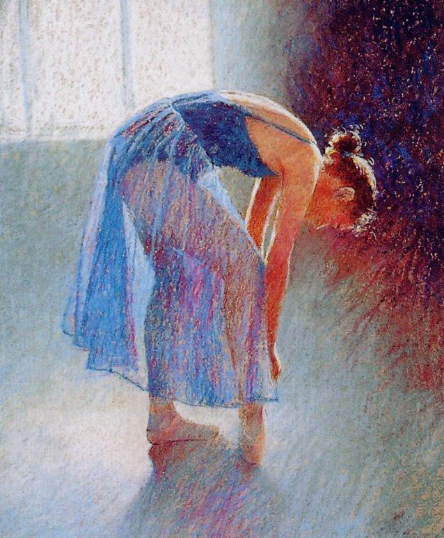 Колин Оллбрук. Танцовщица в синем