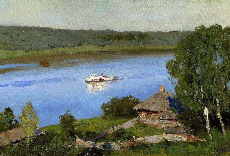 Исаак Ильич Левитан. Пейзаж с пароходом
