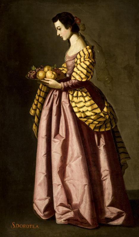 Francisco de Zurbaran. Saint Dorothea