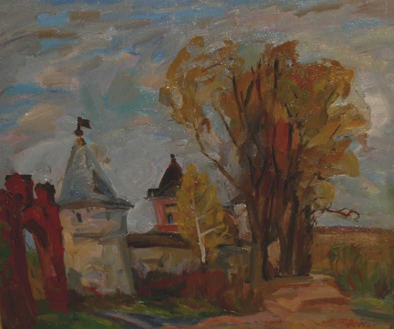 """Tatiana Mikhailovna Osokina. """"Portal of the Lushetzky Monastery"""""""