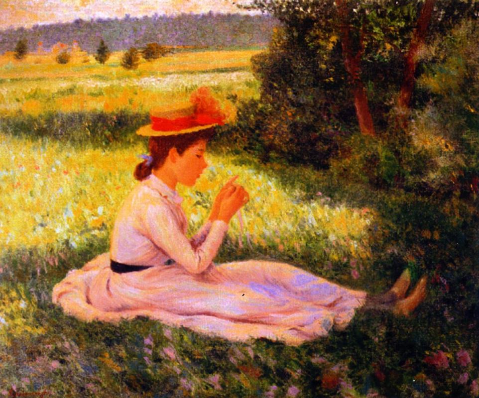 Federico Zandomenegi. Stay in the meadow (Girl in field)