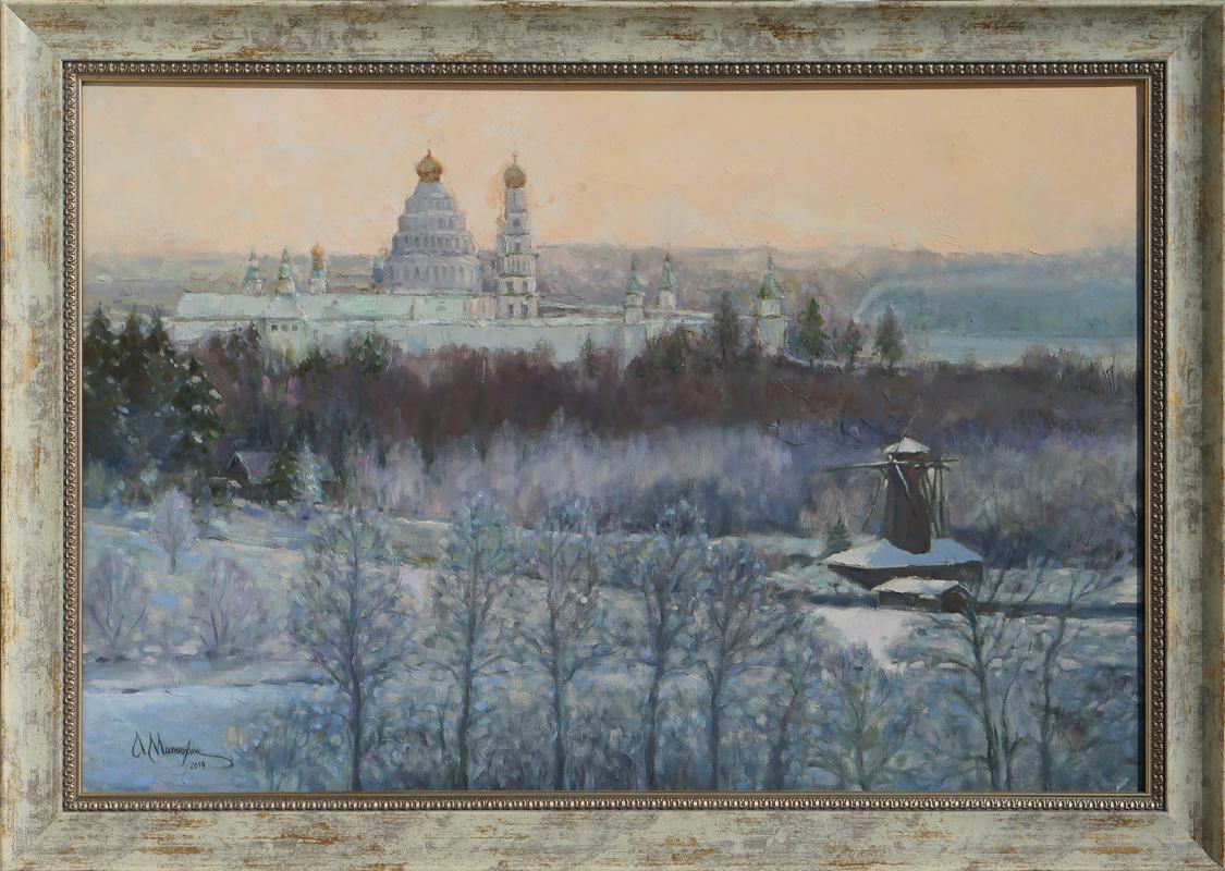 Alexander Matyukhin. 2019. Winter day in New Jerusalem_s (40x60 cm)